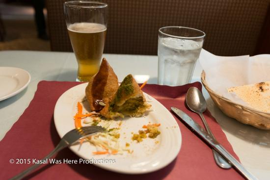Samosa and taj mahal beer picture of ashoka indian for Ashoka indian cuisine troy