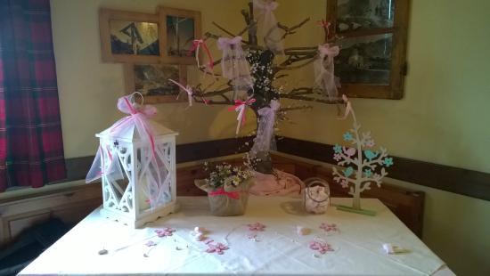 Decorazioni Sala Battesimo : Decorazioni per una festa di battesimo foto di rifugio passo san