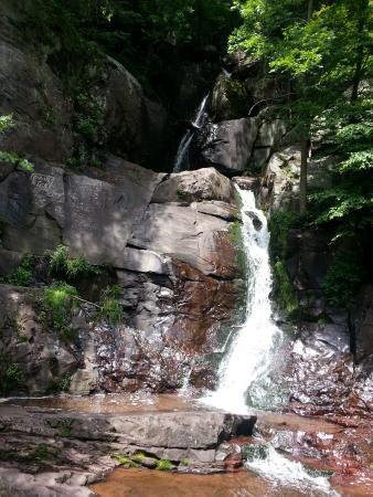 Pocono Biking : One of the many waterfalls along the way.