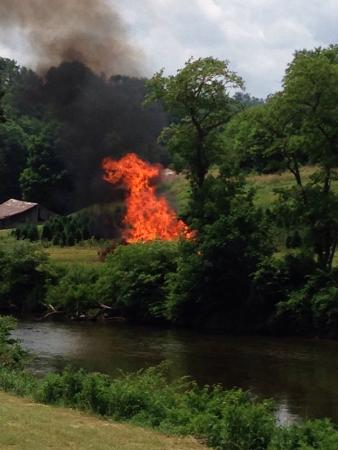 RiverGirl Fishing Company: Fire on the mountain by New River on our Ride. Real Girl Fishing is creative and home grown. Tod