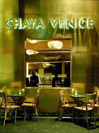 Chaya Venice Los Angeles Venice Menu Prices