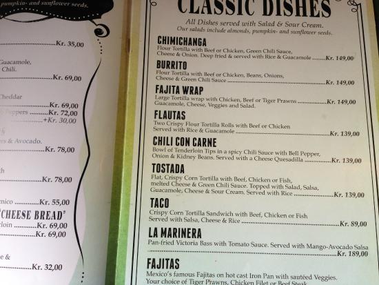 Tortilla Flats: a flash of the menu