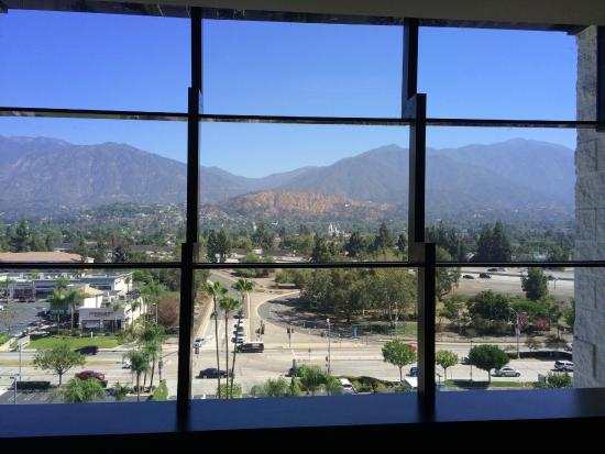 DoubleTree by Hilton Hotel Monrovia - Pasadena Area: Looking out windows at 10 floor elevator, great view.