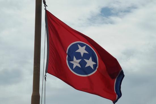 The Tennessee Flag Flying On The Top Deck Of The Boat