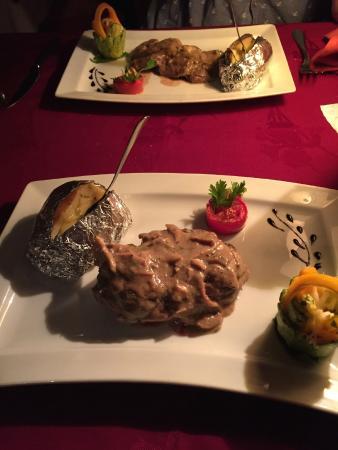 Escargot: Sirloin steak and veal with creme fraiche.