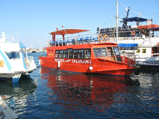Sea Lines Boat At Rhodes Town Harbour Picture Of