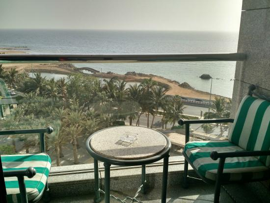 Jeddah Hilton: View from the Room's Terrace