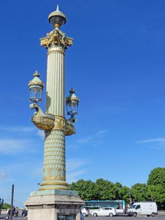 Lamp Post On The Place De La Concorde