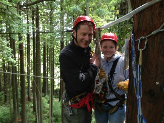 North Coast Adventure Centers : Standing at the top of the tree