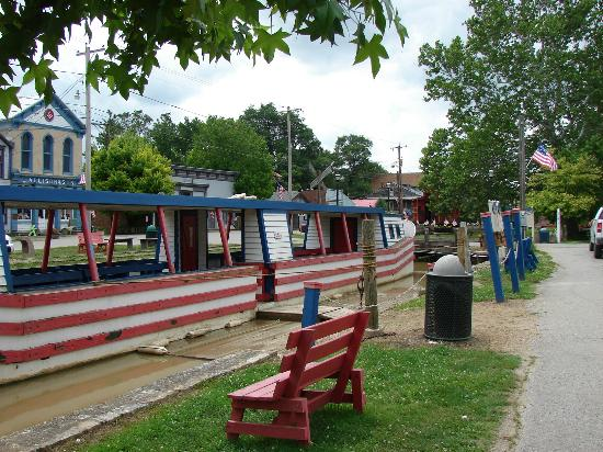 Metamora, IN: Boat at dock