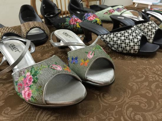 3b3553d0048b Penang Heritage Trust  Nyonya Hand Beaded Shoes on sale at the PAPA  workshop!