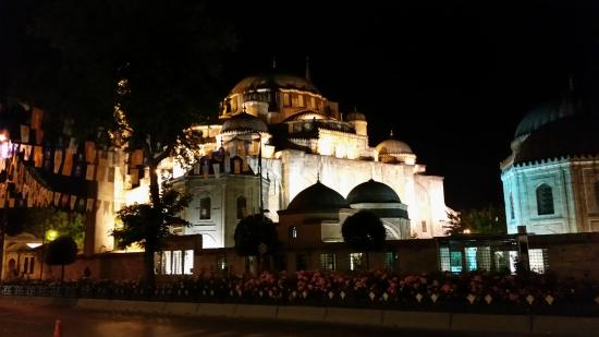 View from front steps of hotel in the evening picture of for Grand gulsoy hotel laleli