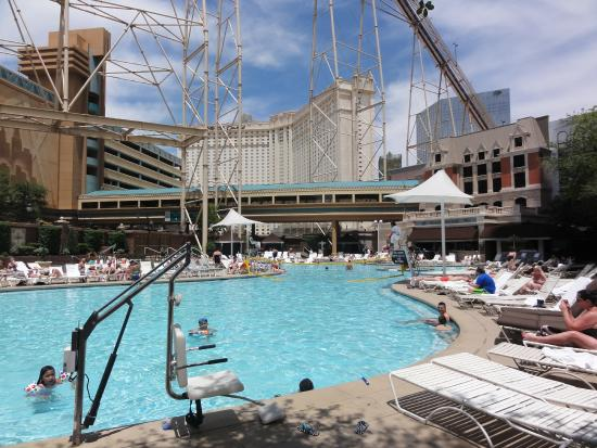 Pool In The Shade In Morning And Evening Picture Of New York New York Hotel And Casino Las