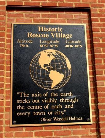 Historic Roscoe Village: Roscoe Village Plaque