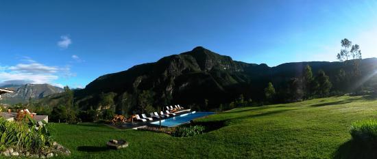 Gocta Andes Lodge: Panoramica desde la habitación en el primer piso