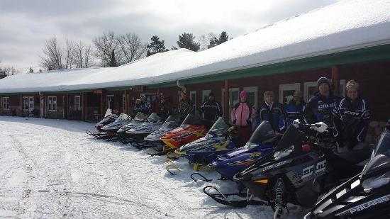 Saint Germain, WI: Snowmobile fun!