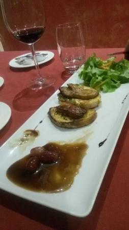 Restaurant L'Agora : Гренки в фуа гра