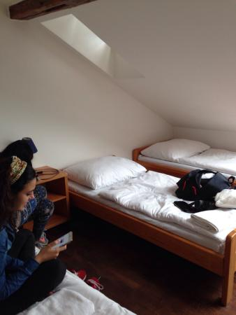 Travellers'Hostel: The room that for 4 people. It is on the attic floor. It was awesome.
