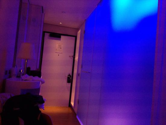 Citizenm New York Times Square Fancy Rooms With Colorful Lights Controlled From Tablet