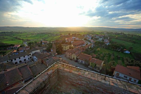Rocca di Marciano: Panorama dalla cima della Torre