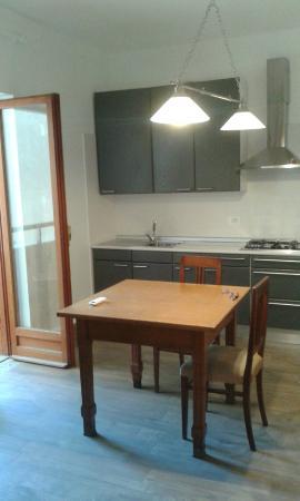 Villa Anna : La zona soggiorno/cucina