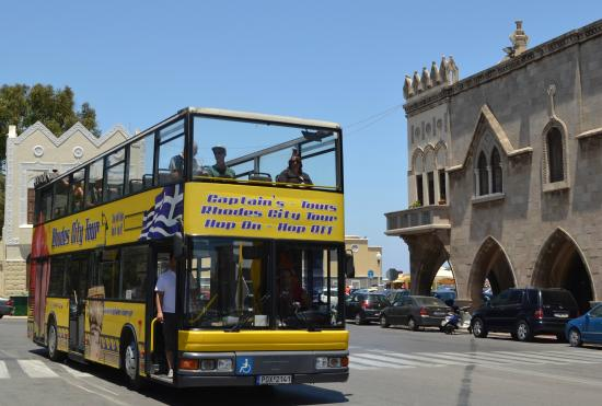 Amazing tour Review of Hop On Hop Off Yellow Bus Rhodes Town