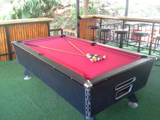 Nature Park Resort : Pool table in bar