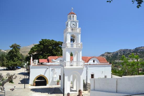 Κολύμπια, Ελλάδα: Монастырь и колокольня