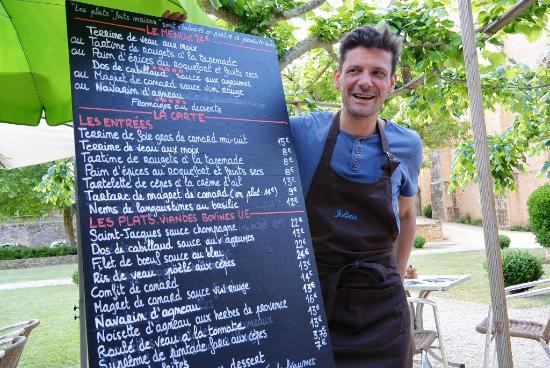 Paunat, Francja: De menukaart