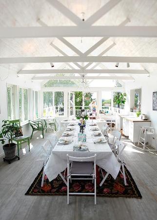 Tuna Bed and Breakfast : Vi hade möhippa förra helgen i Tuna B&Bs fantastiska nybyggda orangeri.