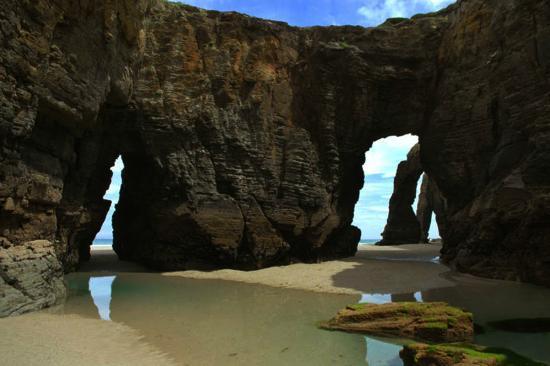 Ribadeo, España: En la playa de las catedrales!!!