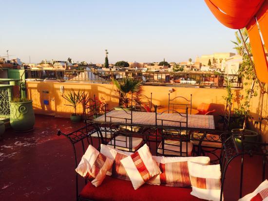 Riad Jomana: Dachterrasse
