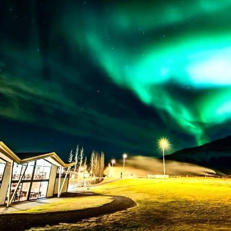 Northern lights at Hotel Geysir