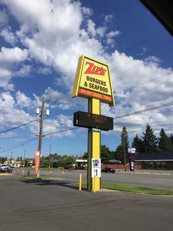Zips Drive In Spokane Valley 11222 E Sprague Ave Restaurant