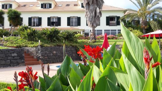 Quinta Alegre: Blich vom Garten auf's Haus