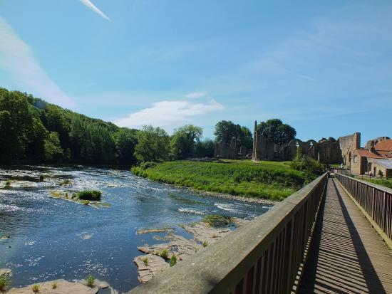 Finchale Priory: Taken from the bridge.