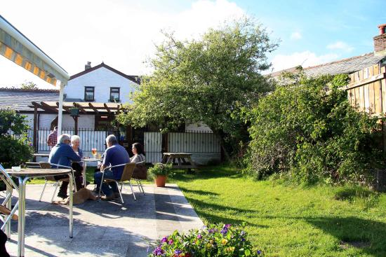 The Ship Inn: One of the two, large gardens