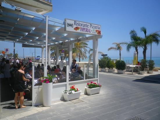 Restaurant is opposite the beach Picture of Imperial Marina di