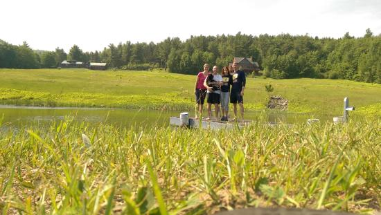Snowville, NH: friends from Savannah enjoying the pond !