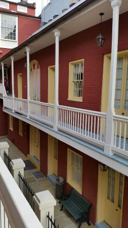 Grenoble House: One of the courtyard balconies