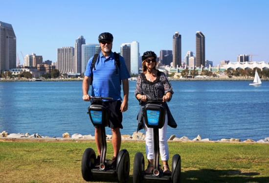 Segway of Coronado: Our view of San Diego during the ride.