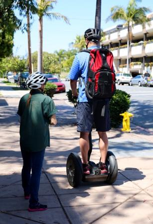 Segway of Coronado: Me learning to ride.  It only took 5 minutes to get the hang of it.