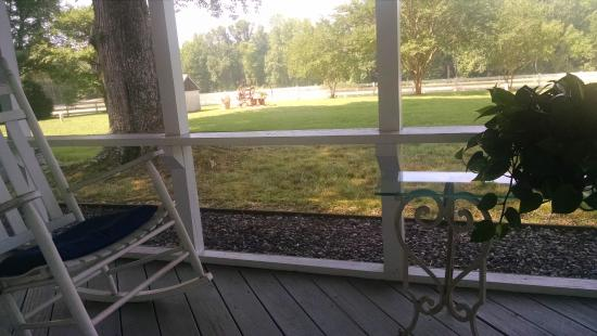 The Bed and Breakfast at Peace Hill: Beautiful back porch view