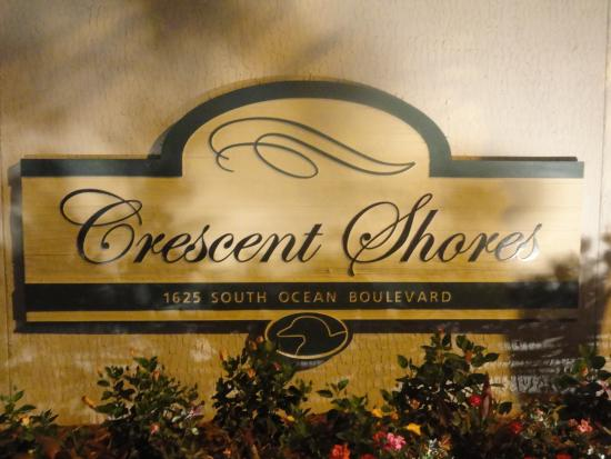 Crescent Shores: Condo Sign.