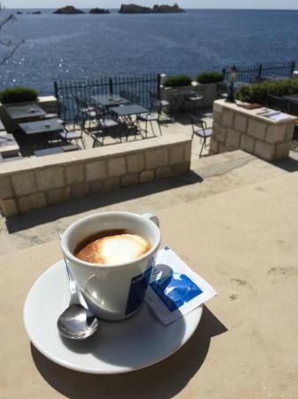 Restaurant Levanat: Coffee and sea