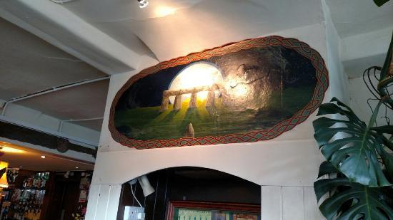 Rai D'Or: Inside by odd fireplace.