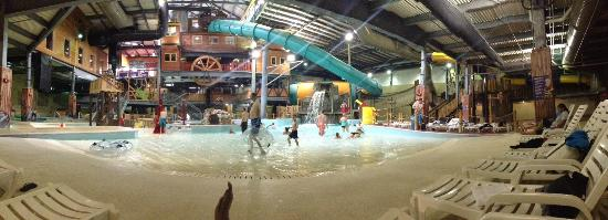 Double JJ Waterpark : Front side of indoor water park - it's bigger than this