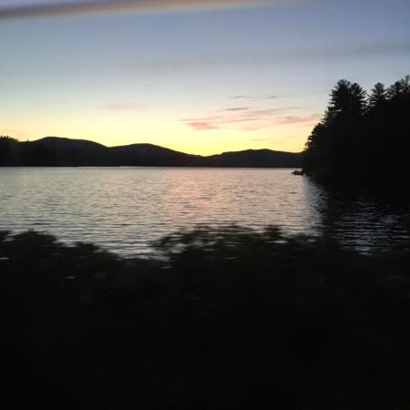 Wilton, ME: The beautiful lake sunset
