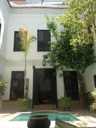 Riad Al Andaluz: The courtyard