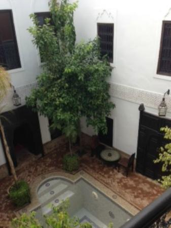 Riad Al Andaluz: The courtyard, before the pool was filled
